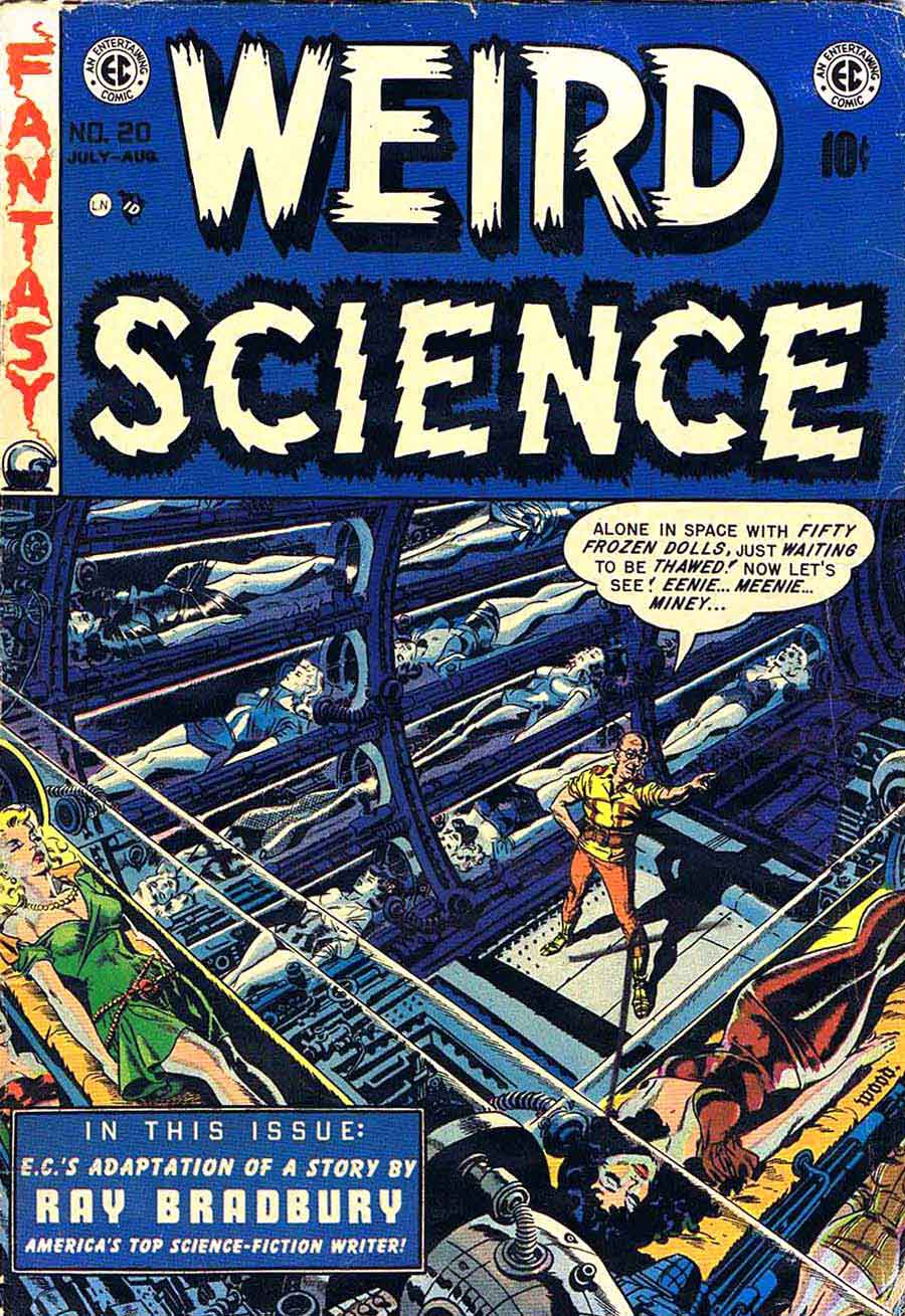 Weird Science v2 #20 ec science fiction comic book cover art by Wally Wood