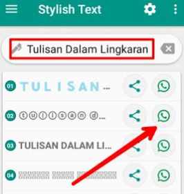 Cara Membuat Tulisan Unik Dalam Lingkaran di WhatsApp