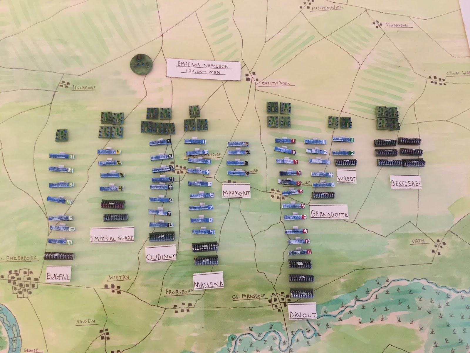 i ll admit at this point that i ve never actually set up the complete wagram oob for grande armee i knew that it was a huge battle and the austrians