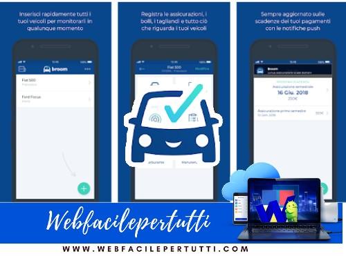 Broom | Applicazione per monitorare le scadenze dei pagamenti dell'auto