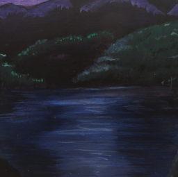 Purple Fantasy Mountain