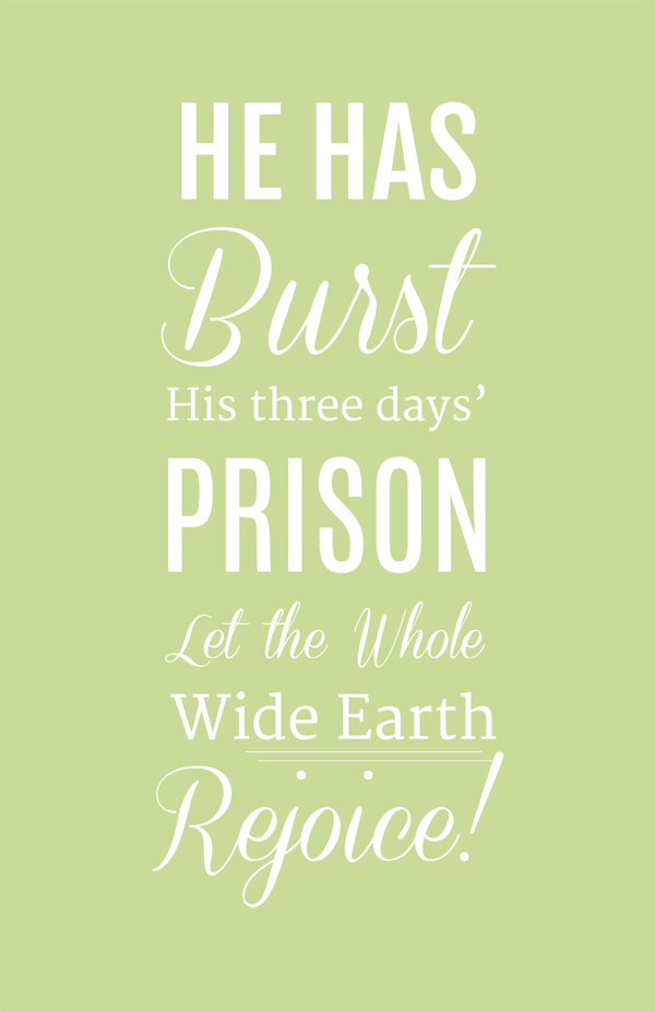 He is Risen Free Easter Printables