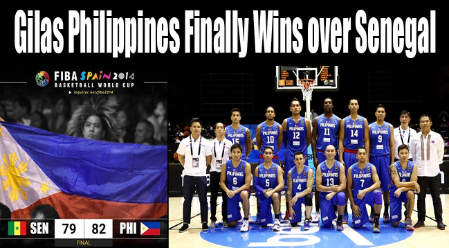 Gilas Philippines vs Senegal: Gilas PH Finally Wins on FIBA World Cup Basketball Game 2014
