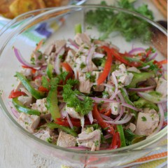 Receta para preparar atún fresco en escabeche, receta casera