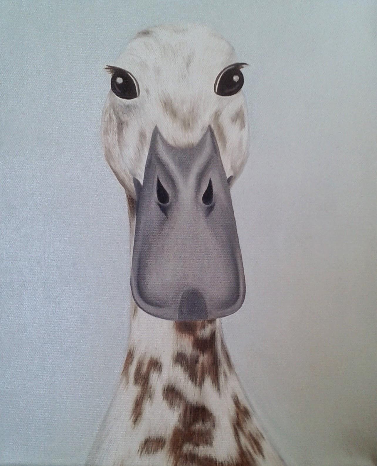 Pet Portrait Duck Oil on Canvas