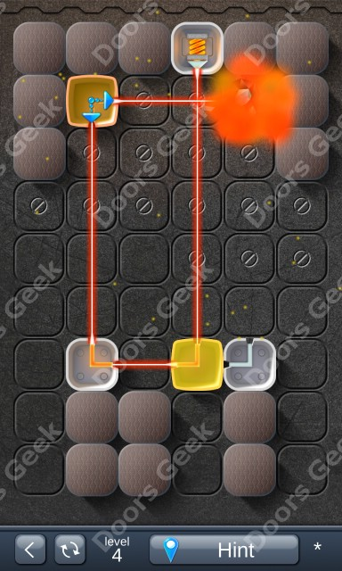 Solution for Laser Box - Puzzle (Basic) Level 4