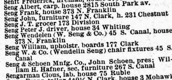 Seng Chicago Chair Cover Recliner Pad Headrest Furniture Protector Waterfalls And Honey Days Wendelin I Ii Three Years Later The 1885 Directory 2 Previous Businesses Are No Longer Listed Replaced Simply By Co For Hardware