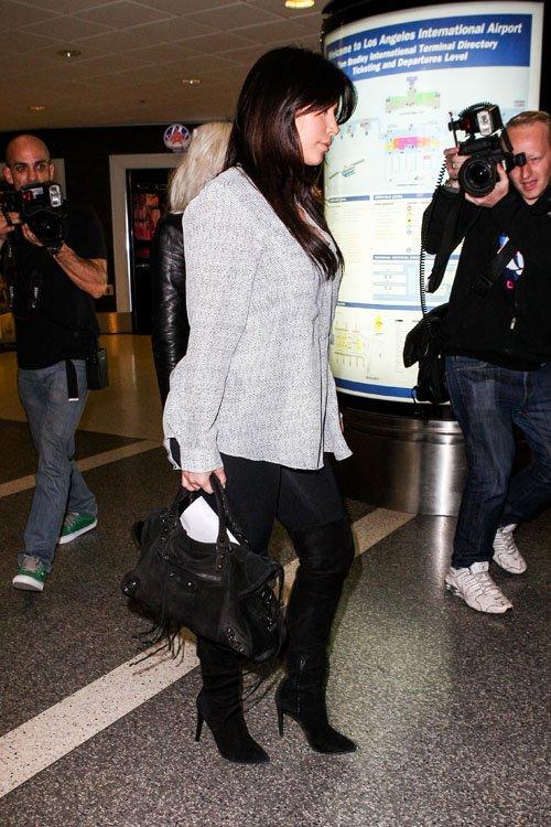 lovebbags.com  Kim Kardashian s Classic Suede City 038879c3e58cd