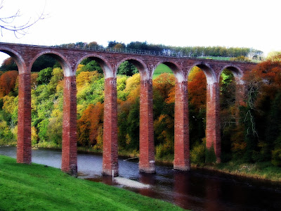 Leaderfoot Viaduct in Autumn, Melrose