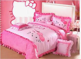desain kamar hello kitty untuk buah hati anda