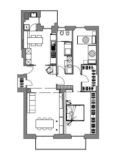 Interior relooking bagno lungo e stretto vasca o doccia for Planimetria stanza