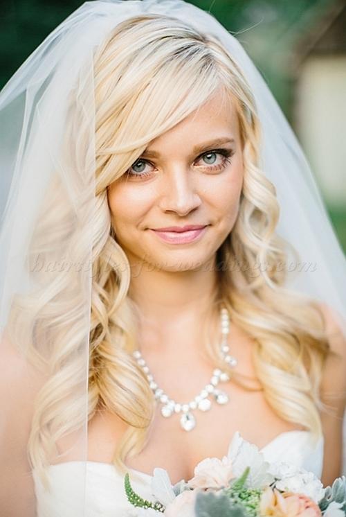 Tremendous Wedding Hairstyles For Medium Length Hair With Veil Wedding Ideas Short Hairstyles Gunalazisus