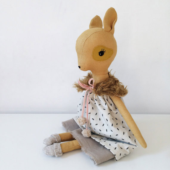 soft toy deer doll