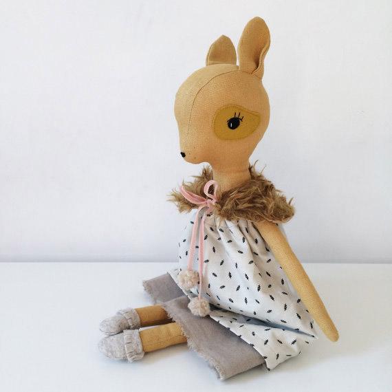 soft toy deer doll