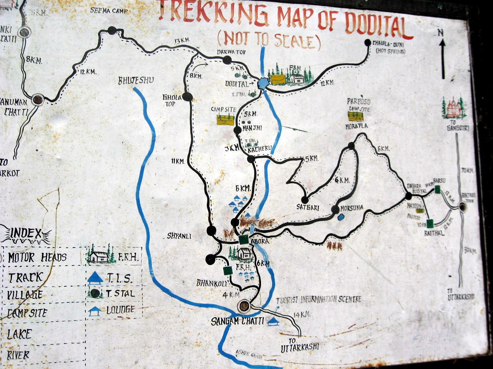 map dayara bugyal trek