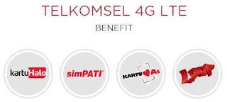 Harga Paket 4G Telkomsel SimPATI, AS dan LOOP