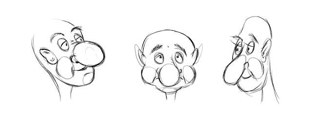 завершаем первый урок смешного рисунка карандашом
