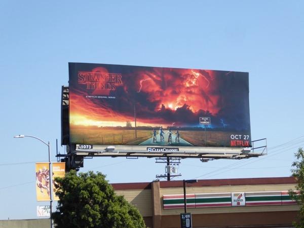 Stranger Things 2 billboard