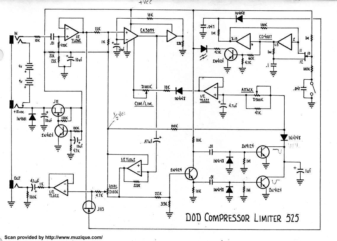 guitar distortion pedal schematics