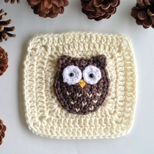 Woodland Owl Granny Square - Free Pattern