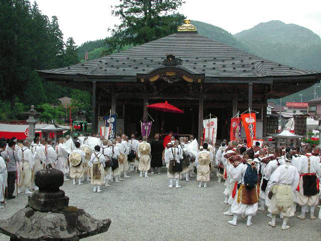 Hanaku-Nyubu (buddest parade) at Ominesan, Tenkawa Village, Yoshino, Nara