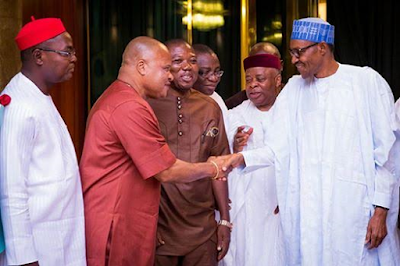 President Buhari receives South East Group for Change led by Senator Ken Nnamani77777