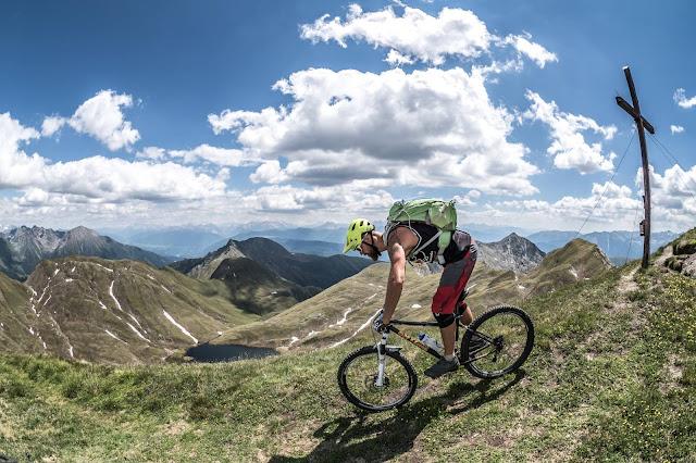 Mountainbike Tour MTB Südtirol Seefeldspitze Trail