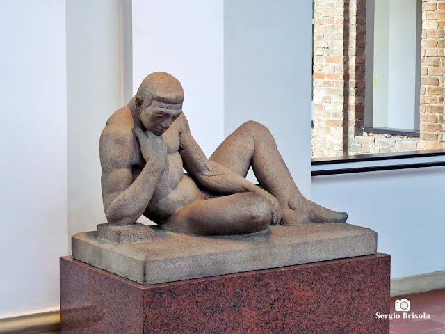 Close-up da Escultura Atleta em Descanso - Pinacoteca - São Paulo