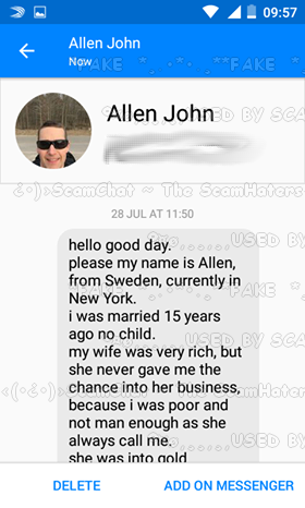 U0027hello Good Day.please My Name Is Allen, From Sweden, Currently In New York.