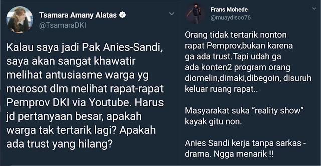 """Tsamara 'Diskak' Warganet Gara-gara """"Ngoceh"""" Warga yang Tak Antusias Tonton Video Pemprov DKI"""