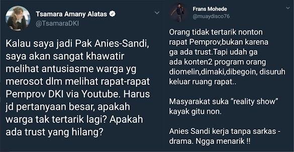 Sindir Warga yang Tak Antusias Tonton Video Pemprov DKI, Tsamara 'Dihajar' Warganet