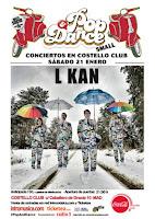 Concierto de L-Kan en Costello Club en el Pop and dance