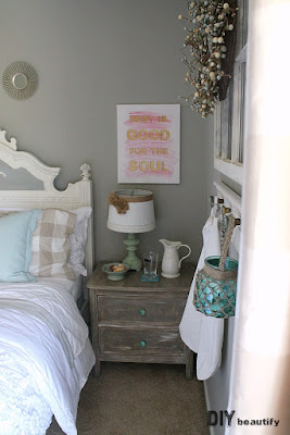 See how I transformed an empty space to a charming Guest Retreat in just 6 weeks! Find the reveal at DIY beautify