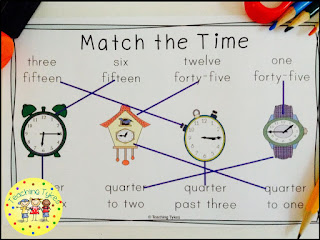 https://www.teacherspayteachers.com/Product/Telling-Time-to-the-Quarter-Hour-Book-2767019