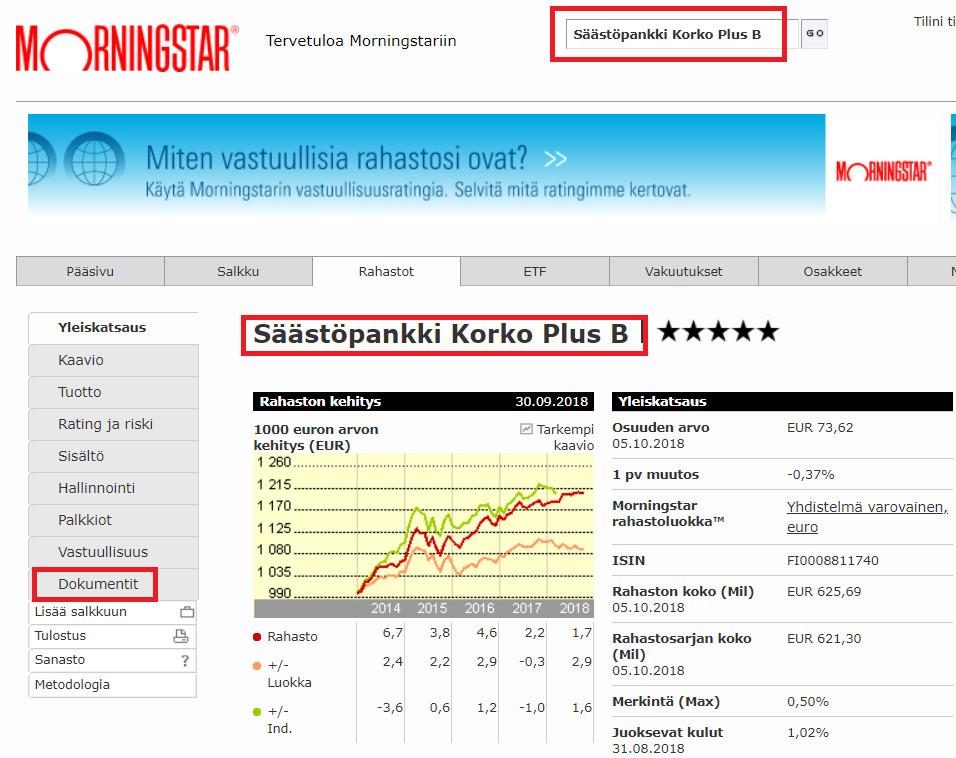Nordnetin hinnasto