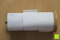 Toilettenpapier: Lumaland Cuisine Küchenrollenhalter aus Bambus mit Edelstahl Spitze, Ø ca. 14 cm x 32 cm