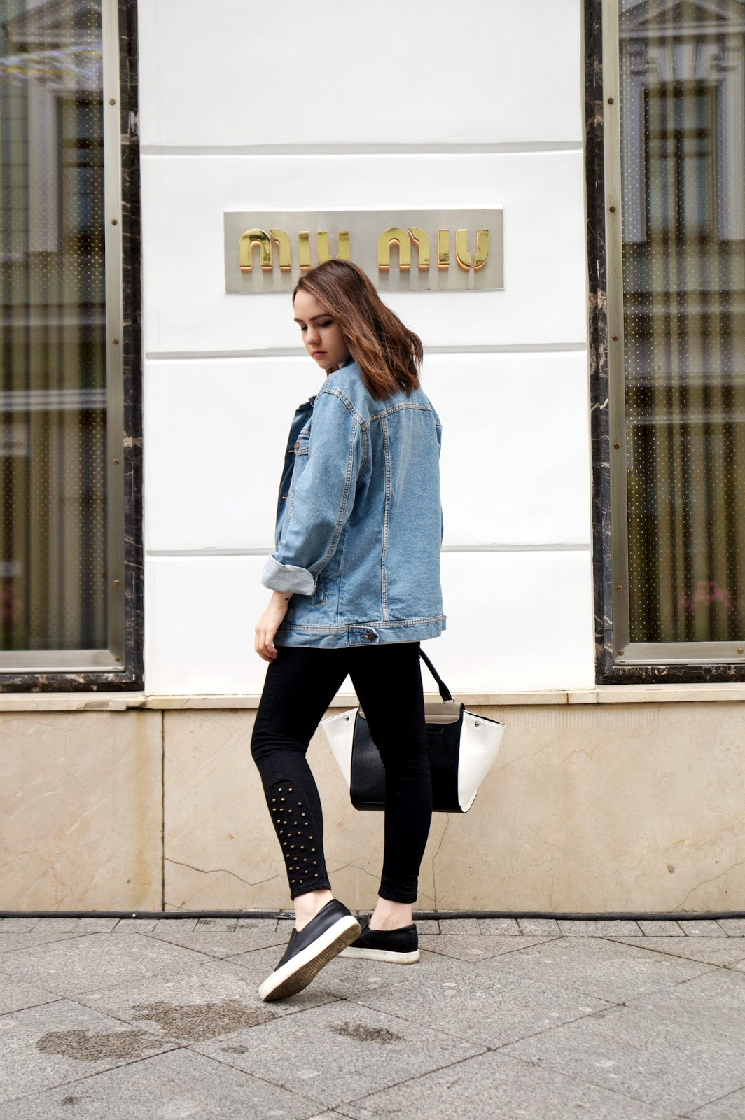 Oversized Denim Jacket | Street Style Summer 2016
