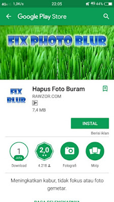 Dengan aplikasi fix photo blur