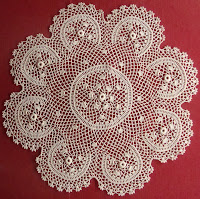 Irish Lace in Museo del Merletto (The Lace Museum), Umbria, Italy