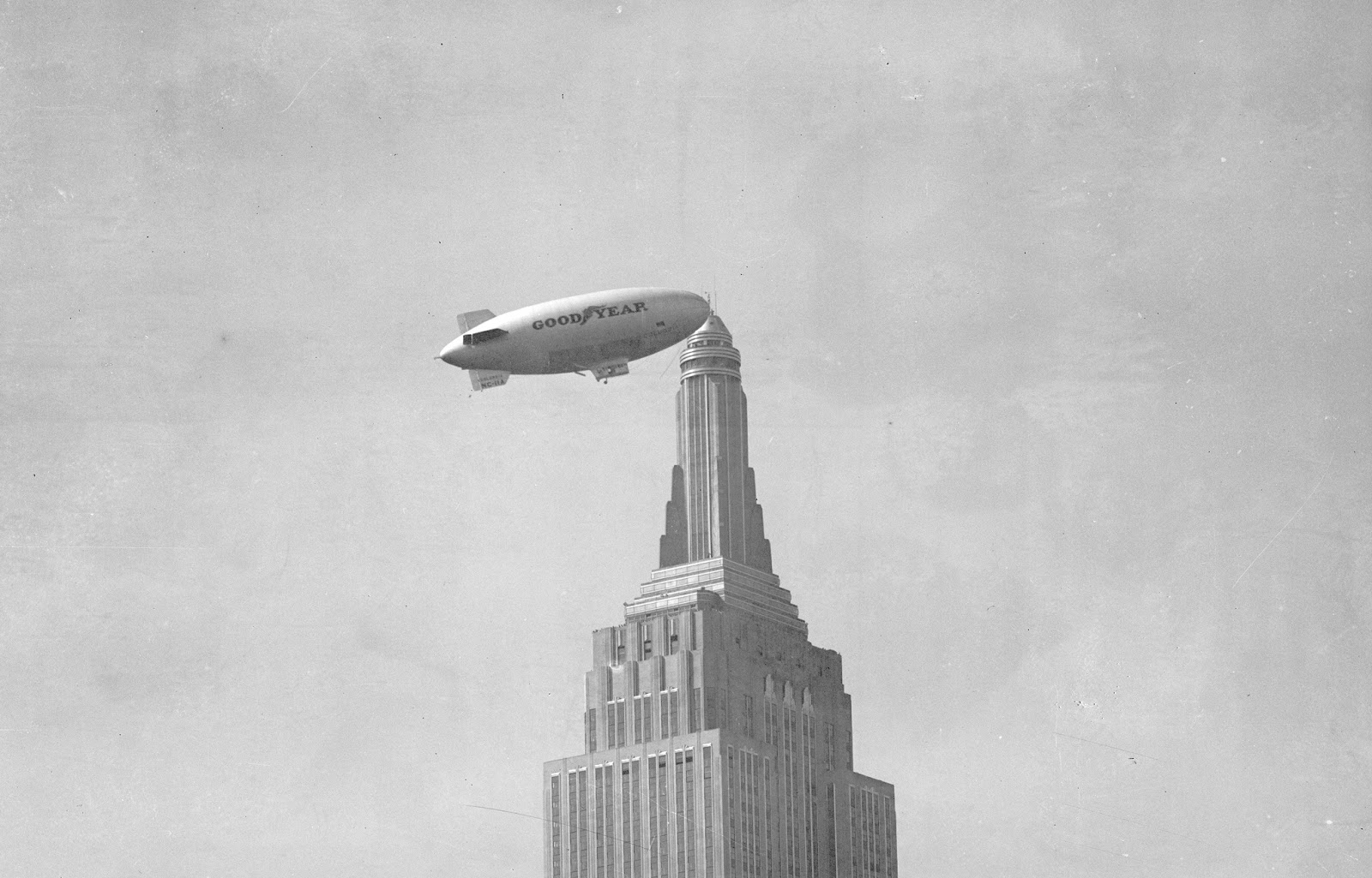 Blimp Tethered To Empire State Building