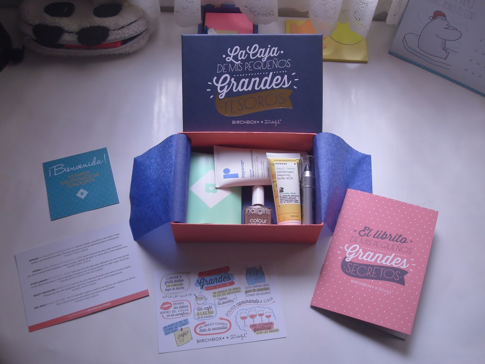Birchbox Diciembre 2014 a Wonderful Time Mr Wonderful
