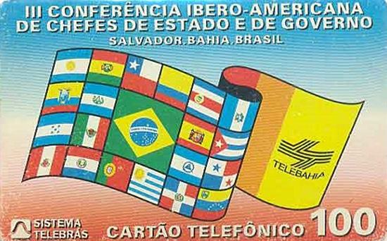 Cartão telefônico - Telebahia - 3ª Conferência Ibero-America