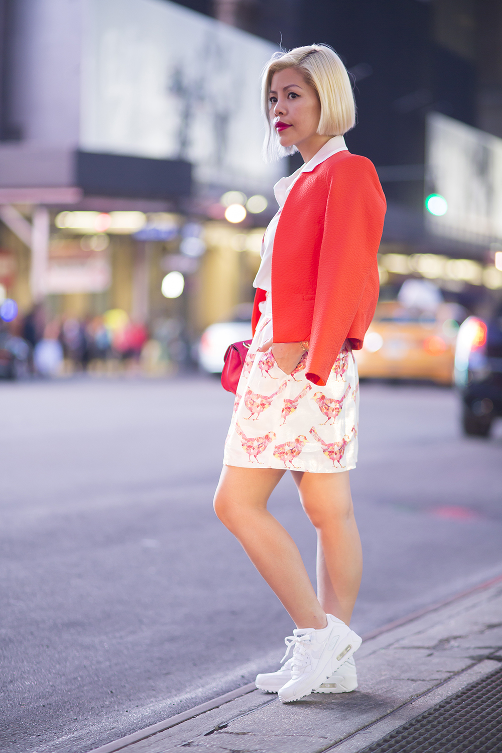 New York Fashion Week 2015- Crystal Phuong- Times Square at night