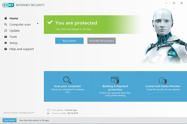 الفيروسات ESET NOD32 Antivirus Internet