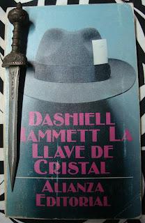 Portada del libro La llave de cristal, de Dashiell Hammett