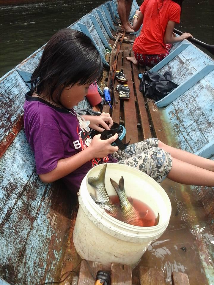 aktiviti menembak ikan