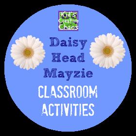 daisy head mayzie writing activity for kindergarten