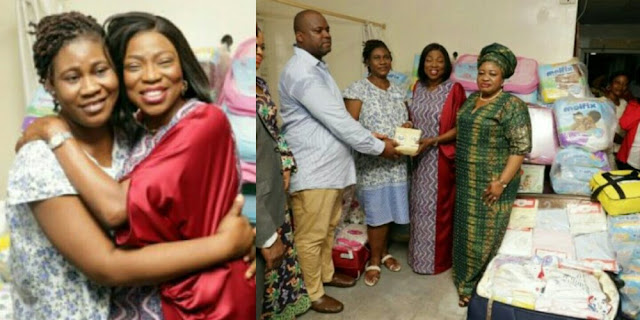 Governor Ambode's Wife Gives Couple With Quintuplets N500,000 Monthly Allowance
