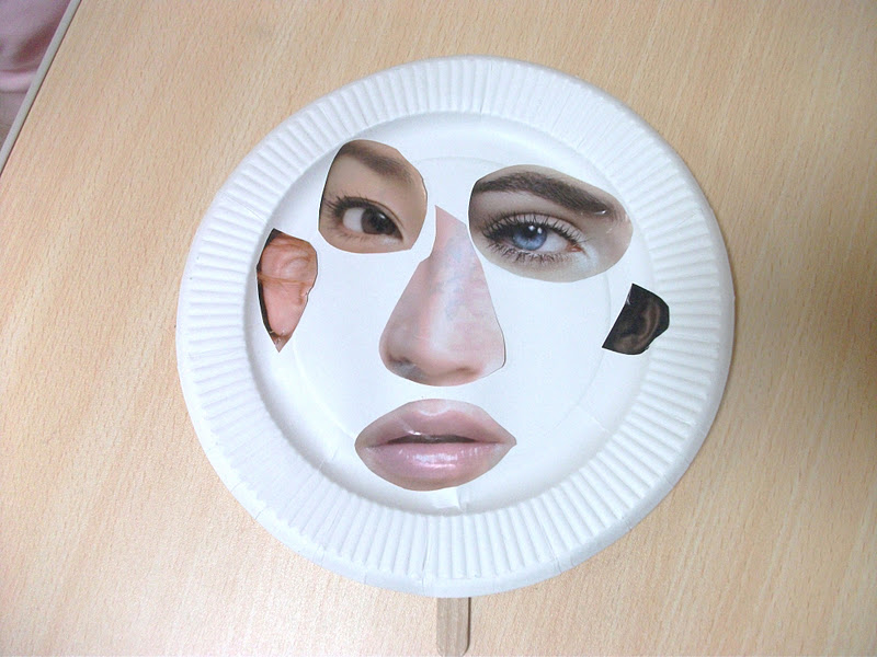 Preschool Crafts For Kids Funny Face Paper Plate Mask Craft