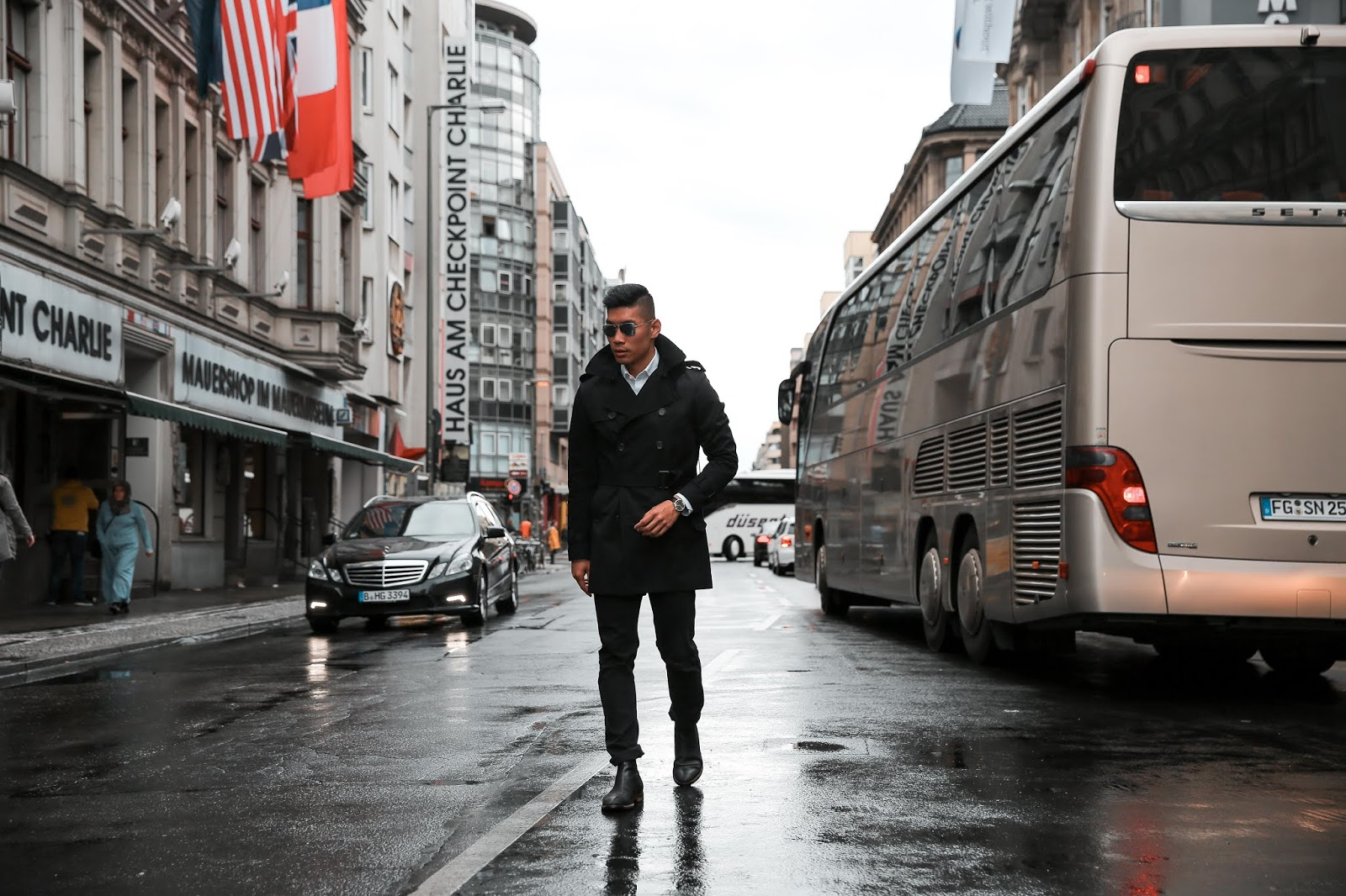 Leo Chan at Checkpoint Charlie